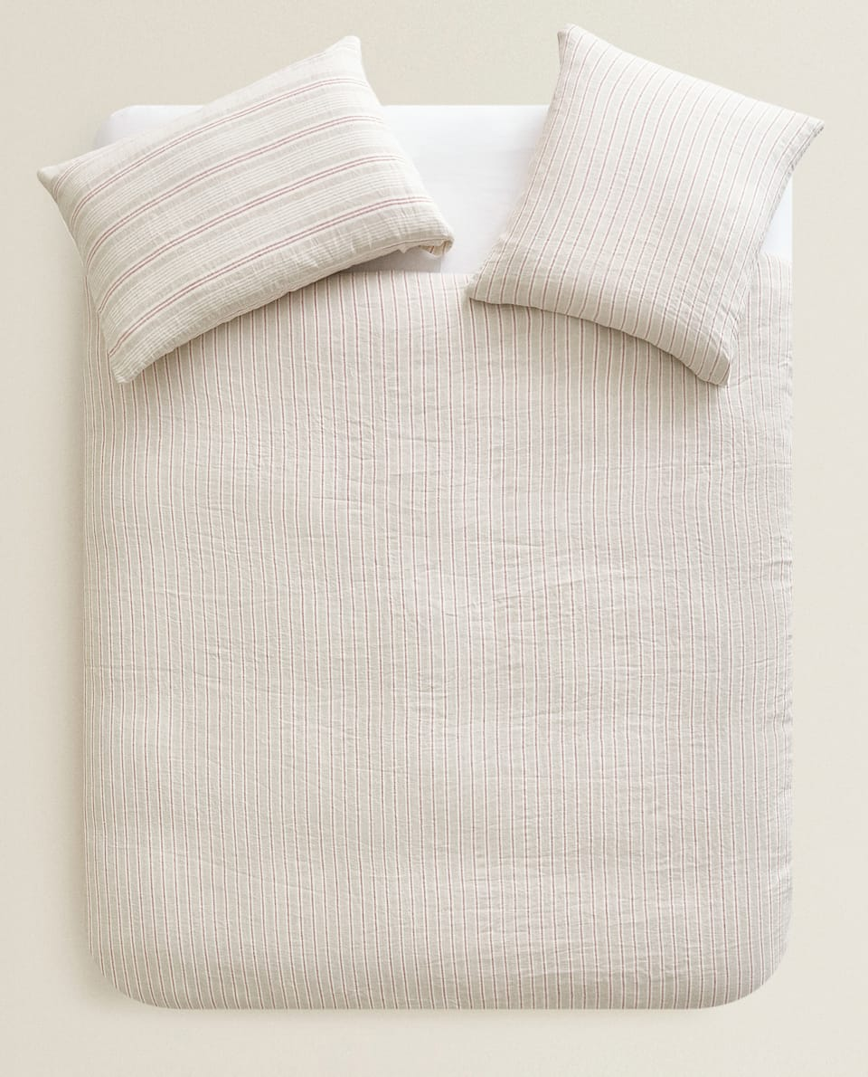 STRIPED LINEN DUVET COVER