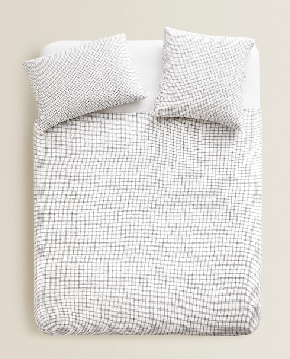 SMALL CHECK PRINT DUVET COVER