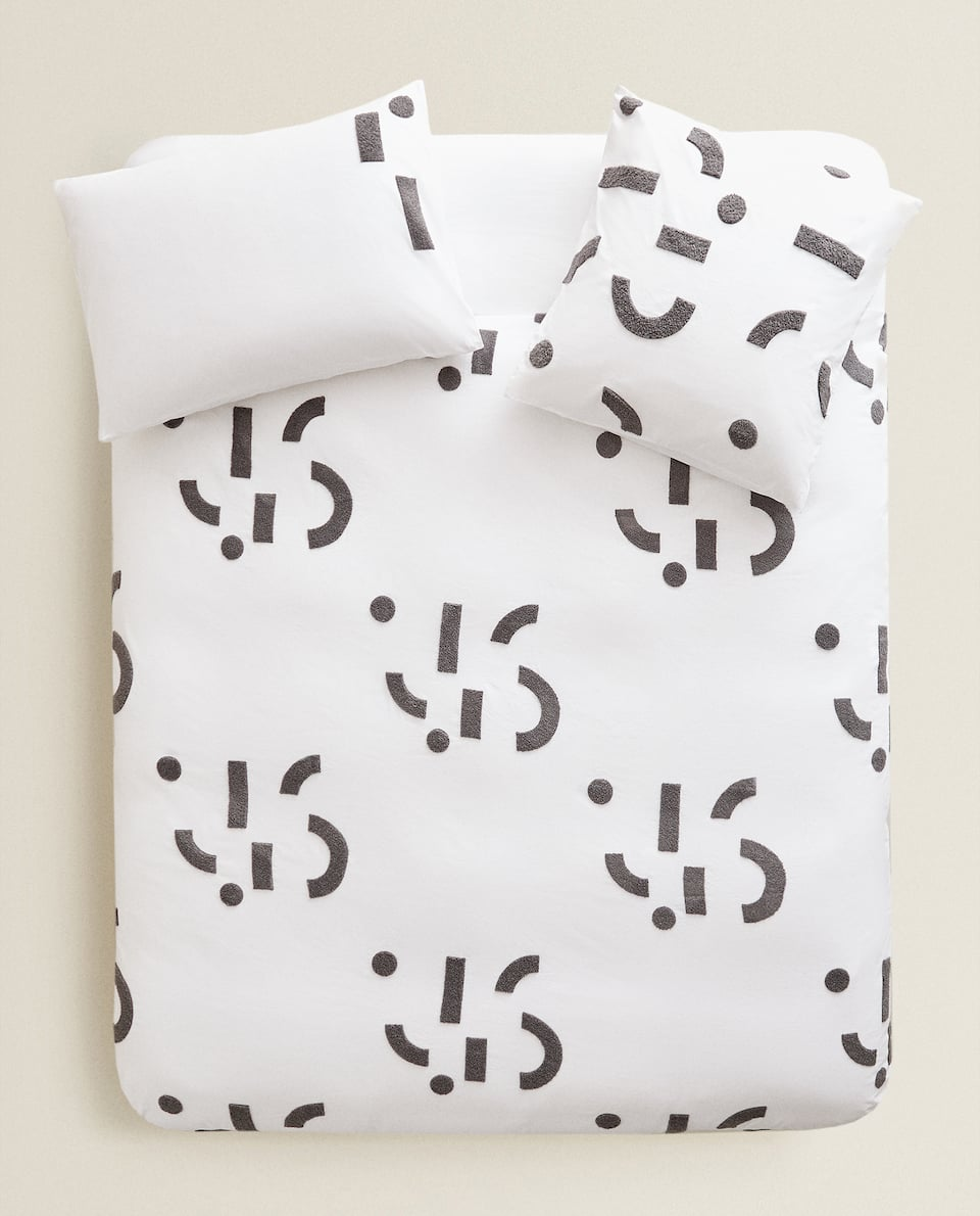 DUVET COVER WITH EMBROIDERED DESIGN
