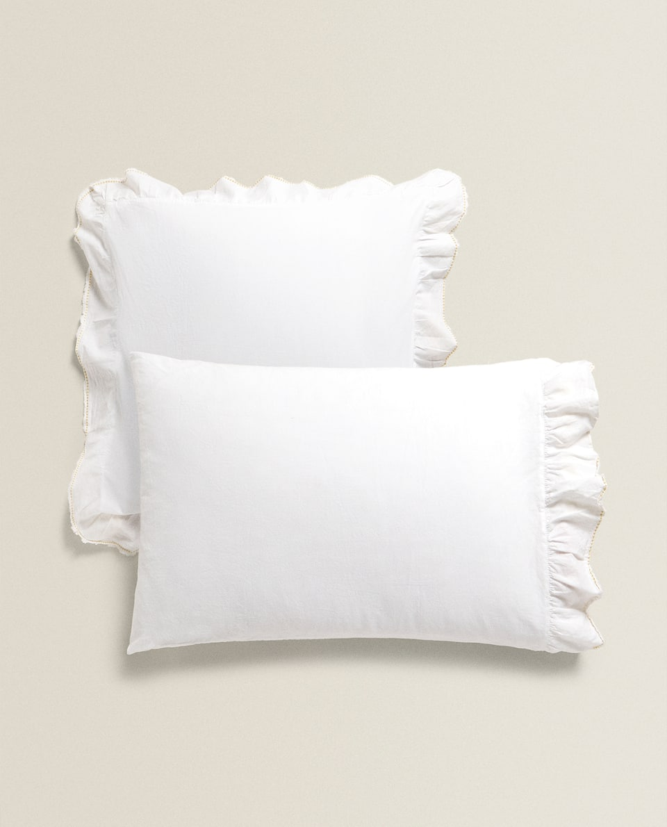 PILLOWCASE WITH RUFFLES