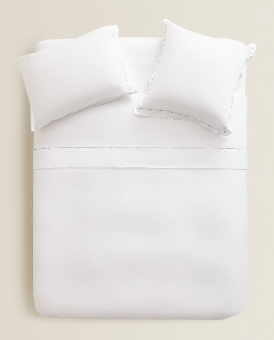 TOPSTITCHED DUVET COVER