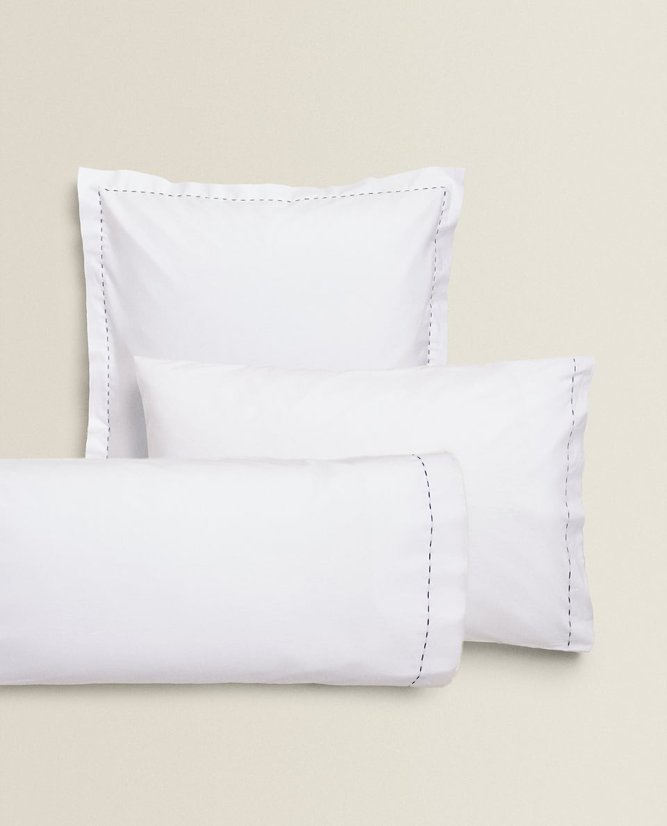 TOPSTITCHED PILLOWCASE