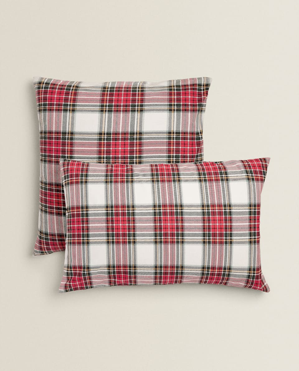 CHECK FLANNEL PILLOWCASE