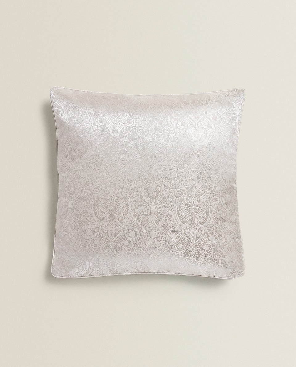 PAISLEY JACQUARD CUSHION COVER