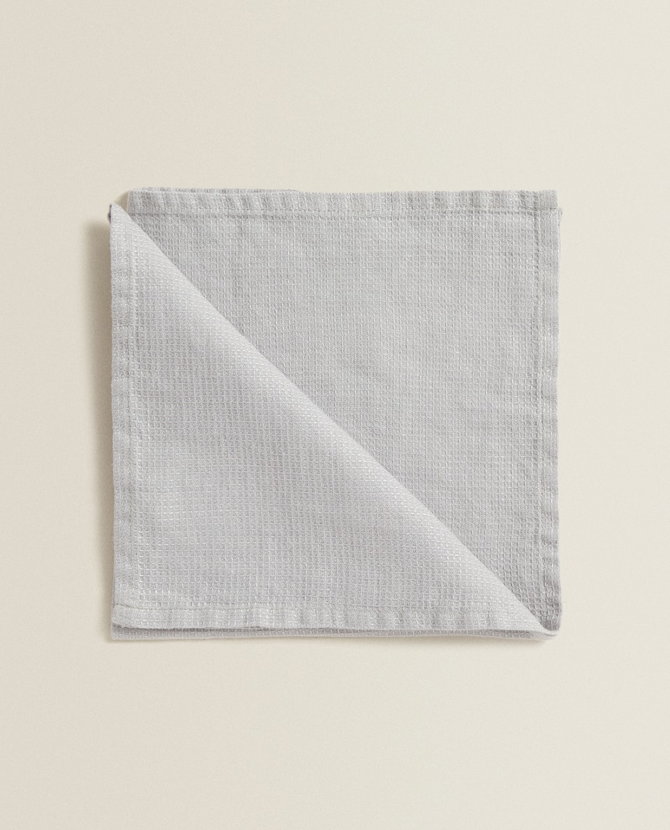 LINEN WAFFLE KNIT NAPKIN (PACK OF 4)