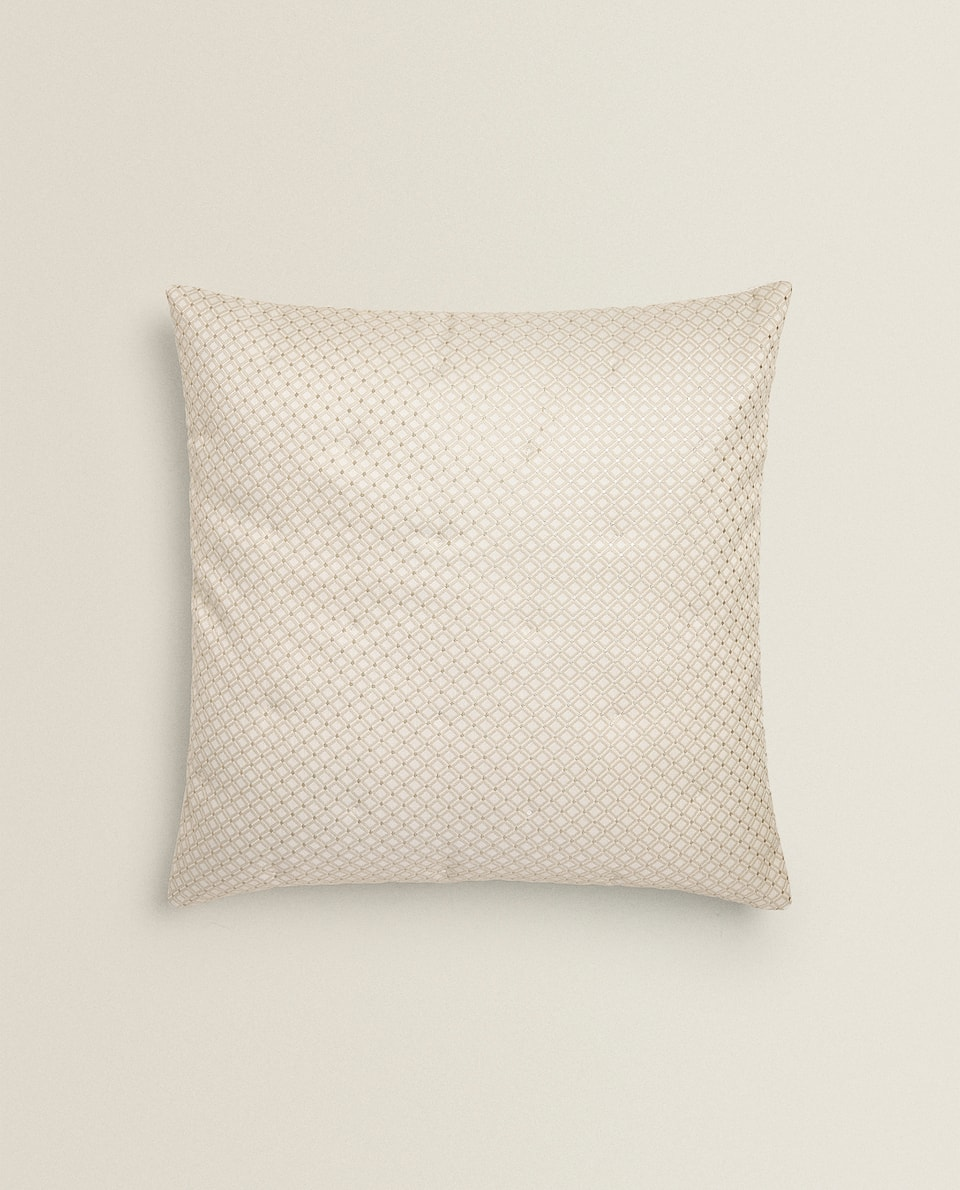 GEOMETRIC JACQUARD CUSHION COVER