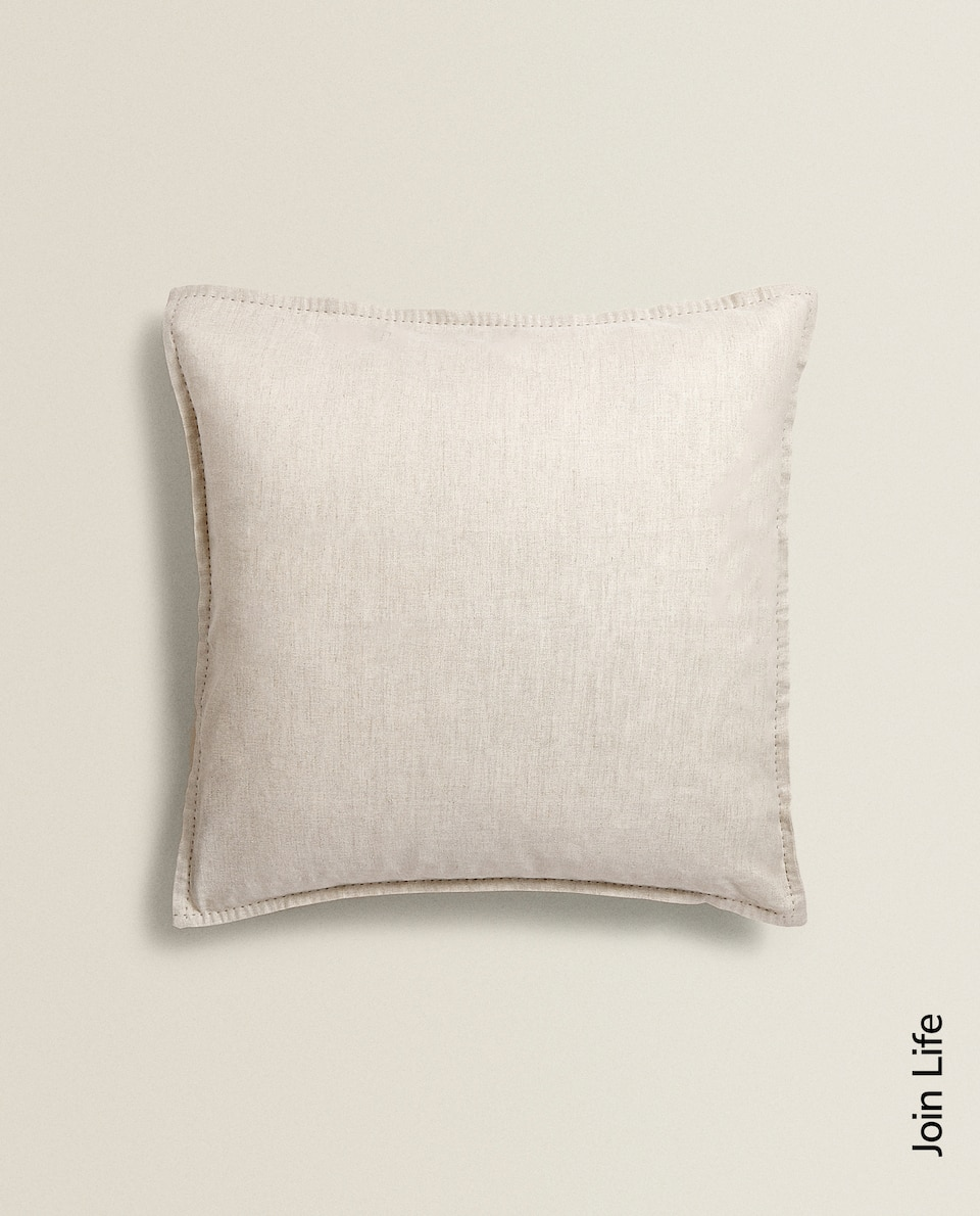 Plain linen cushion cover