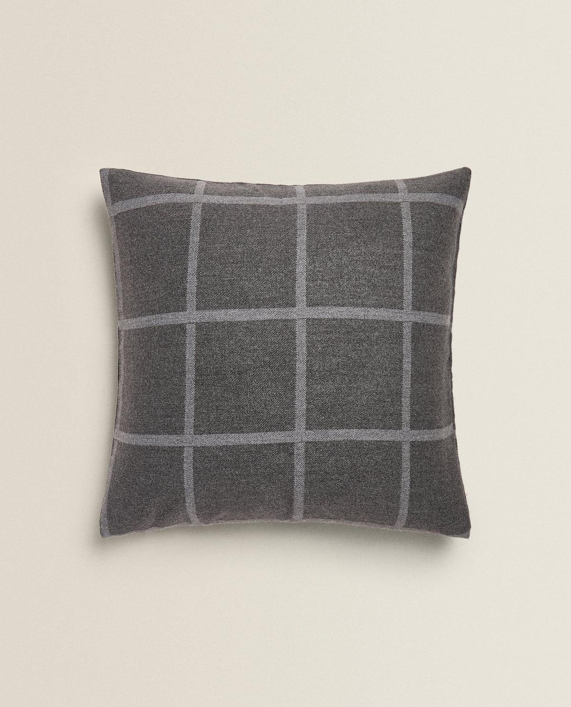 check-print-throw-pillow--throw-pillows---living-room by zara-home