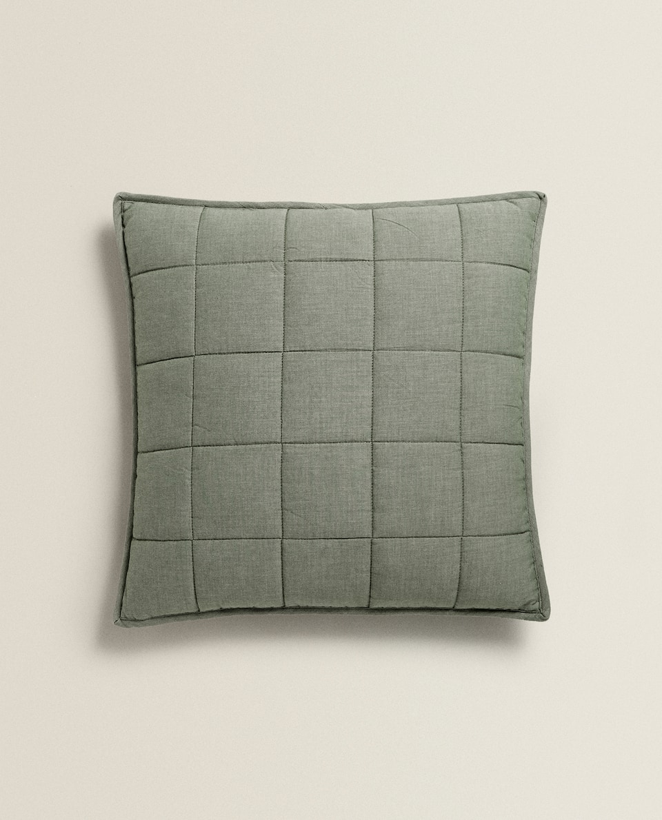 WASHED EFFECT TWILL CUSHION COVER