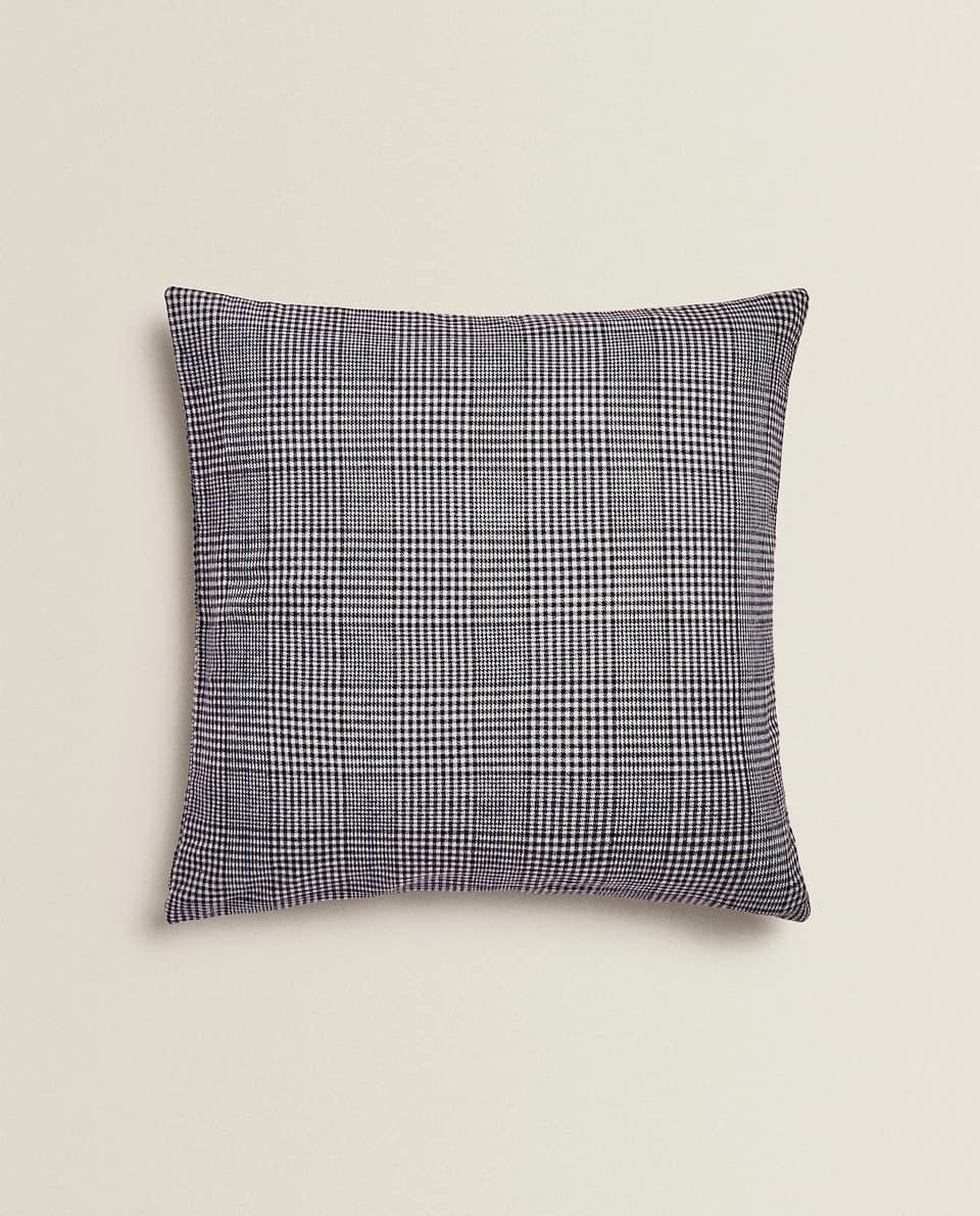 HOUNDSTOOTH FLANNEL CUSHION COVER