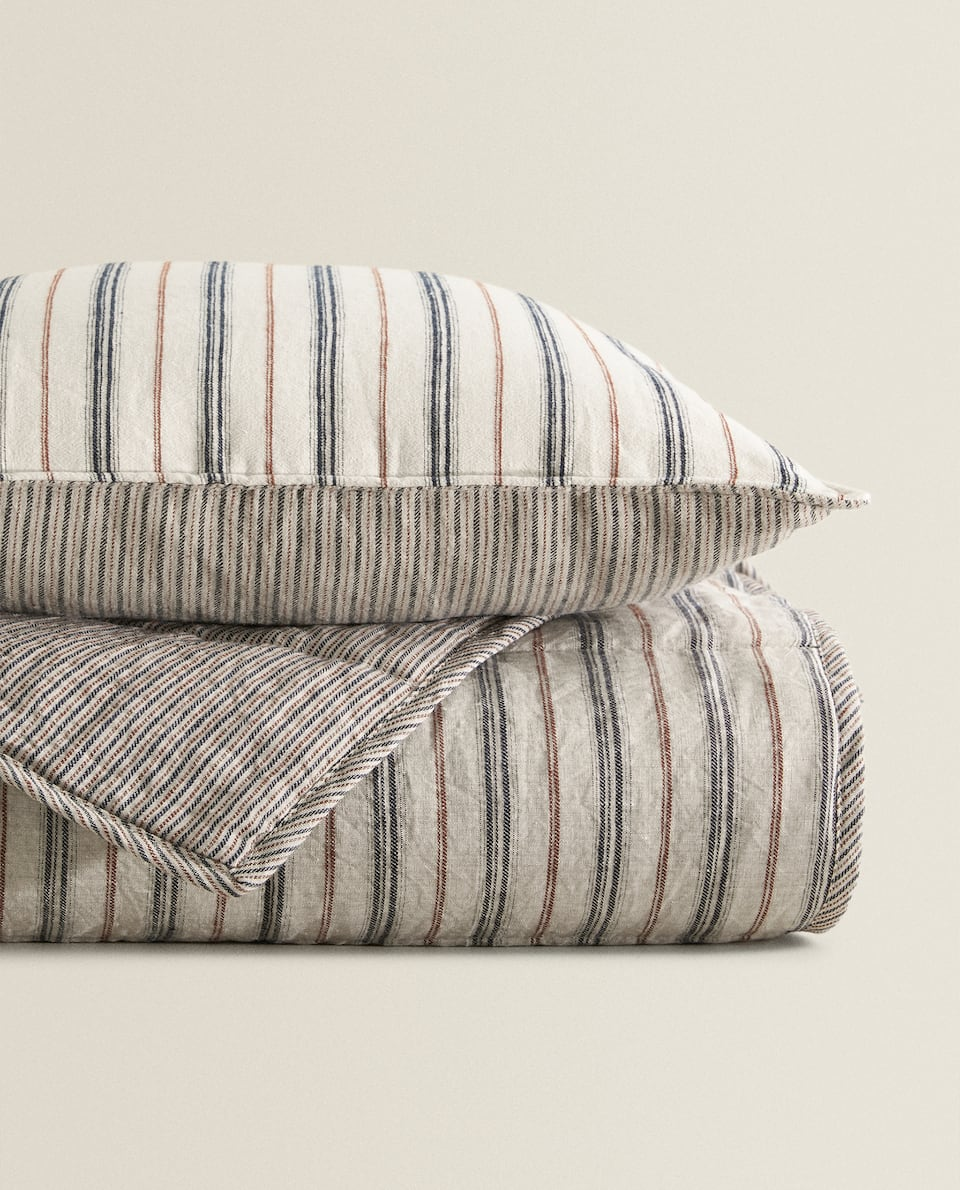STRIPED WASHED EFFECT QUILT