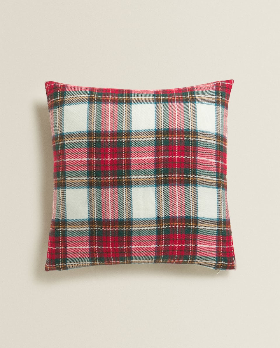 TARTAN CUSHION COVER