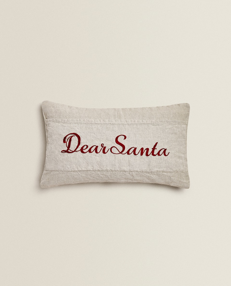 CHRISTMAS CUSHION COVER WITH SLOGAN