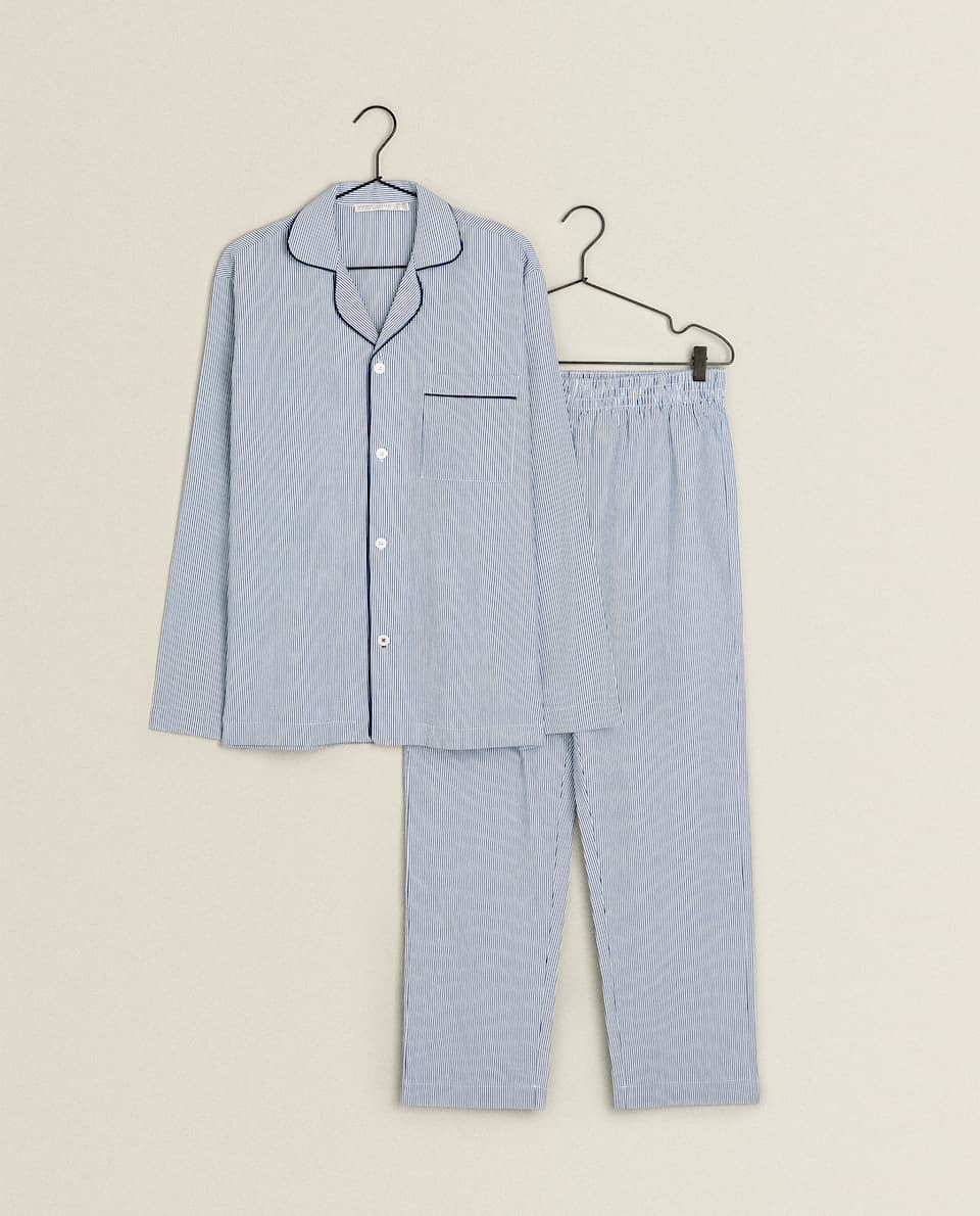 SET OF STRIPED SHIRT PYJAMAS