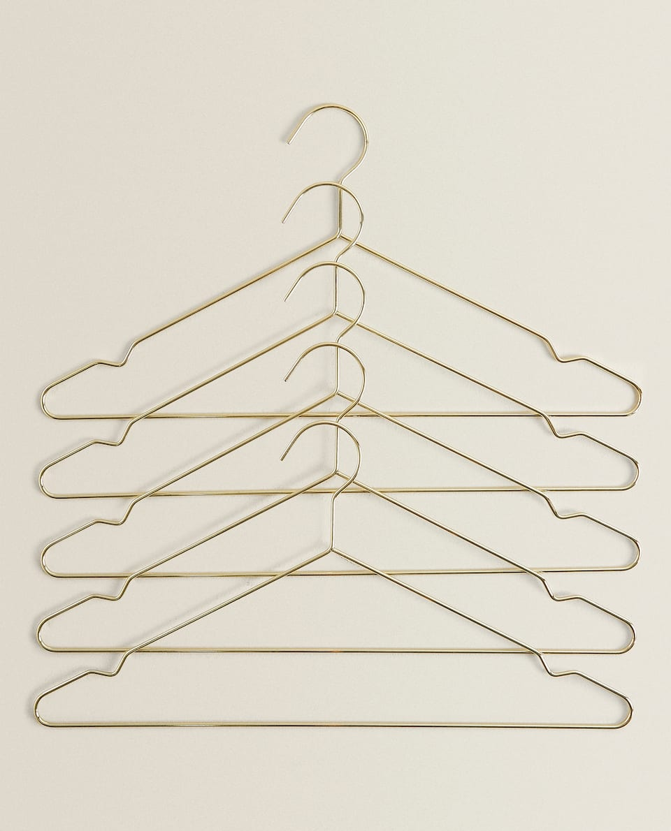 GOLDEN METAL HANGER (SET OF 5)