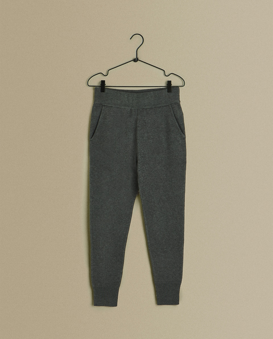 KNIT JOGGING TROUSERS