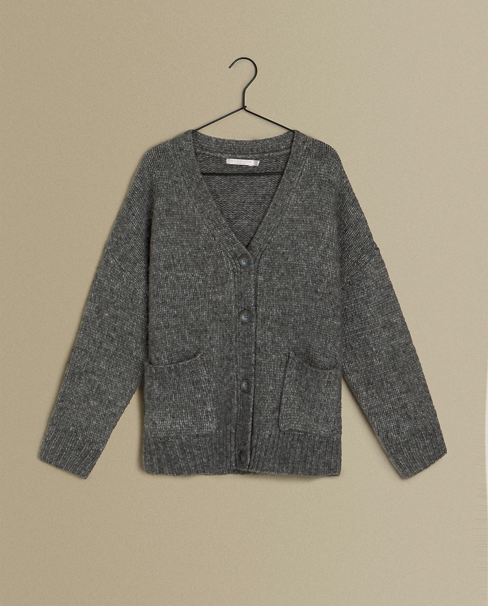 CROPPED BUTTON-UP CARDIGAN