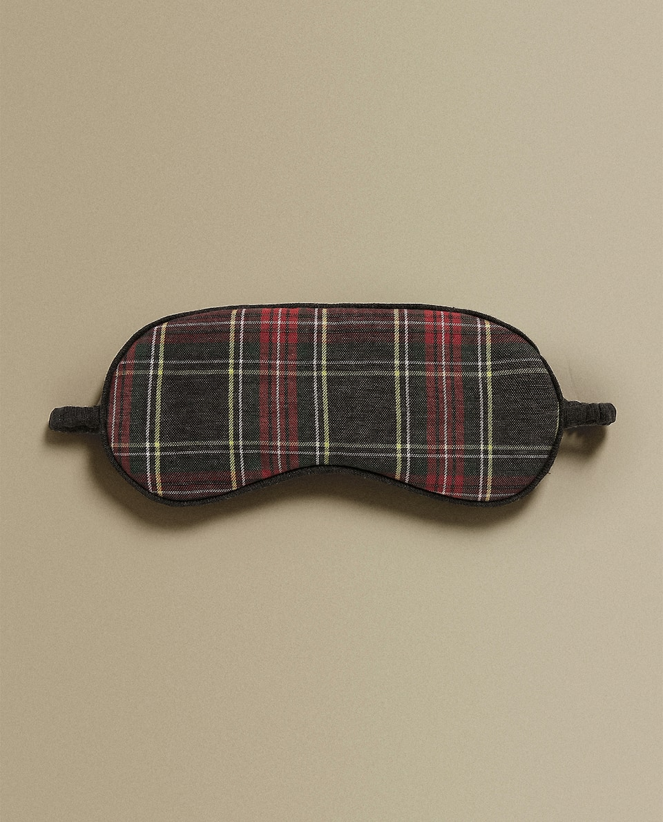 TARTAN FLANNEL EYE MASK