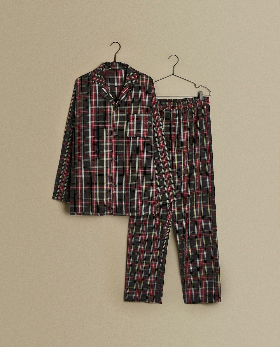 TARTAN FLANNEL SET OF PYJAMAS