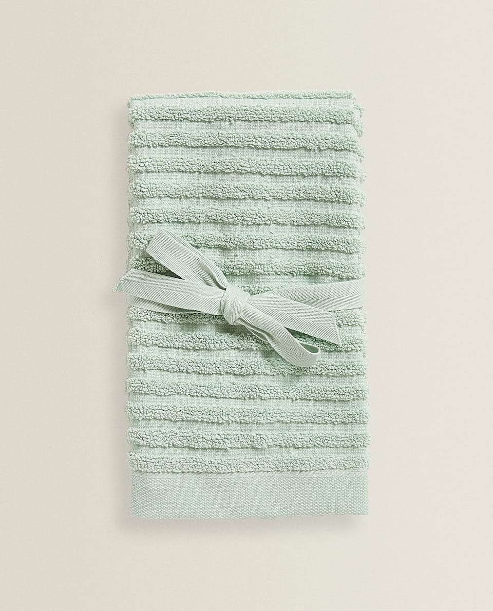 TEXTURED COTTON TOWEL (PACK OF 2)
