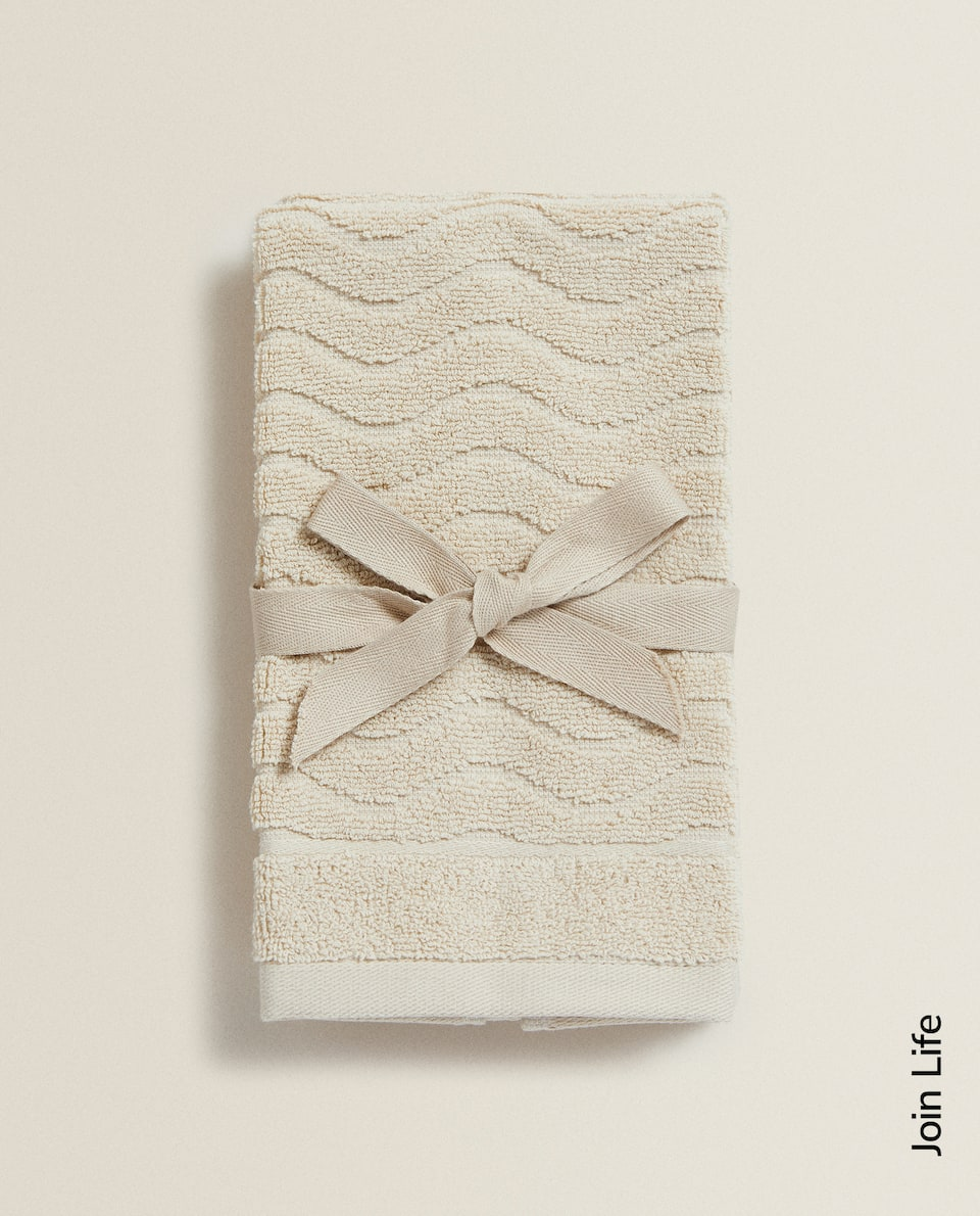 SCALLOPED JACQUARD TOWEL (SET OF 2)