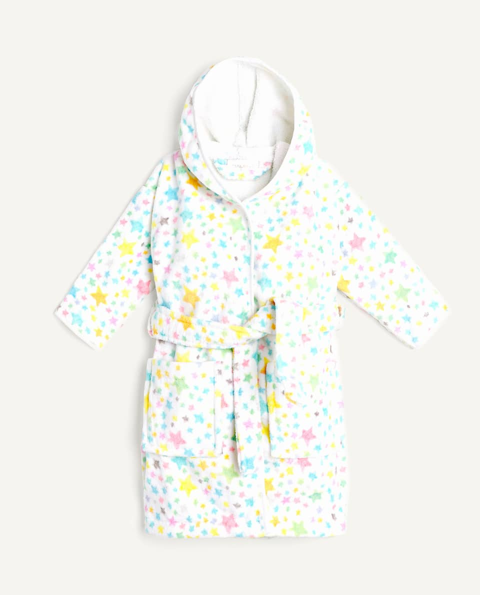 STAR PRINT BATHROBE