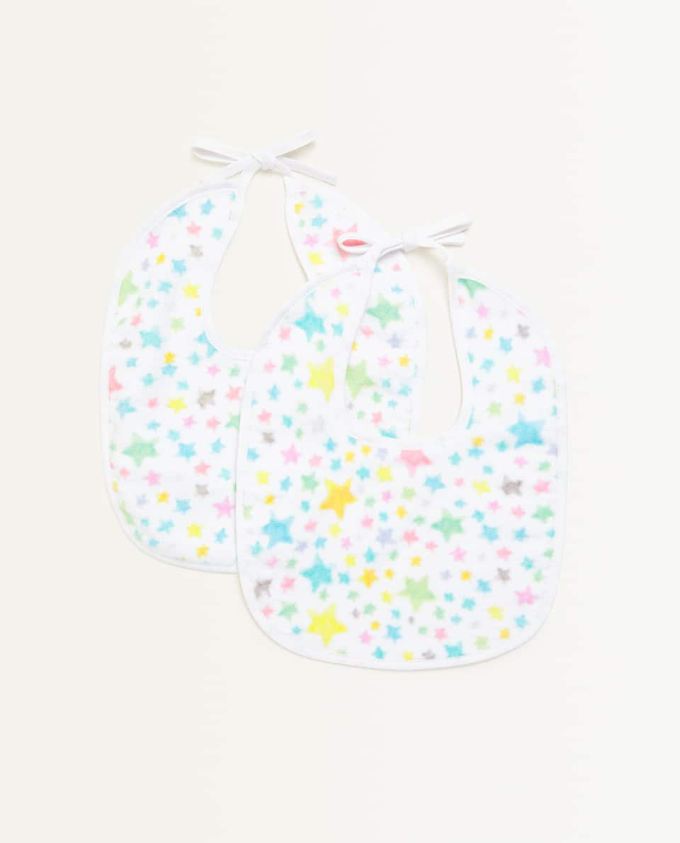 STAR PRINT BIB (PACK OF 2)