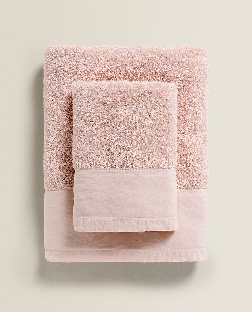WASHED-EFFECT TOWEL