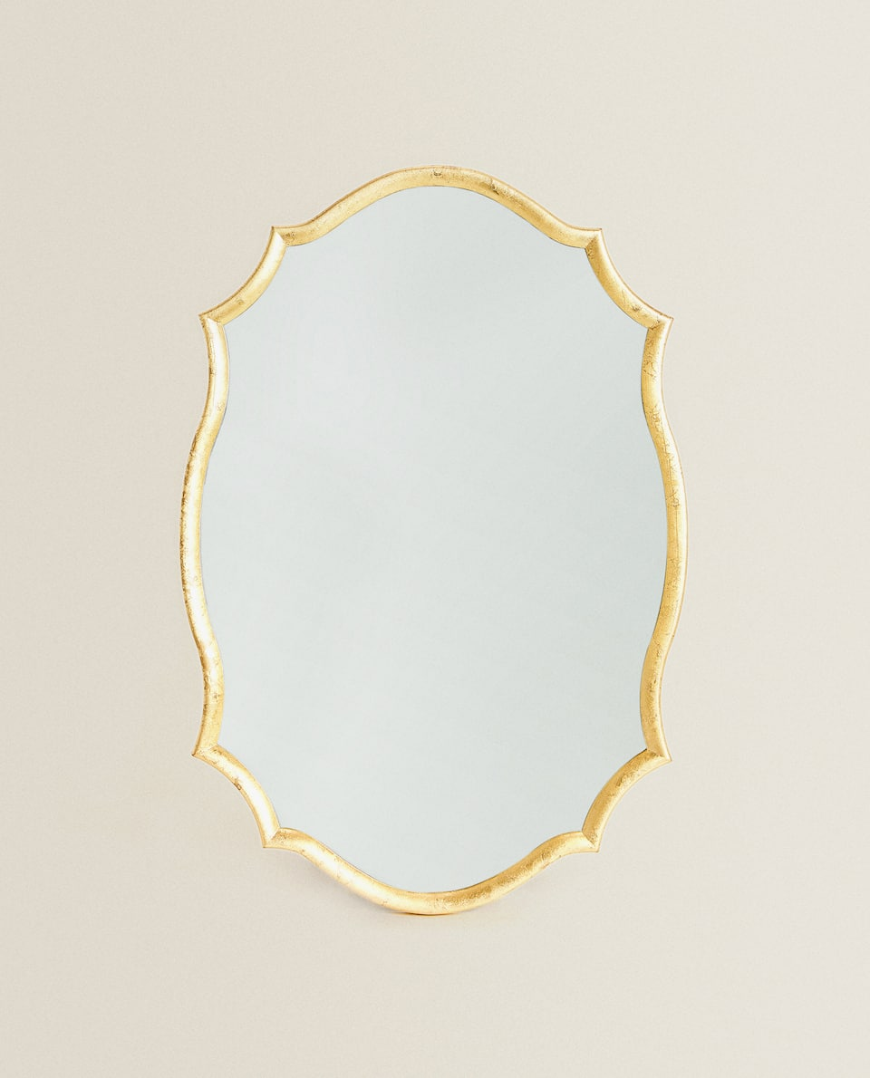 GOLDEN WAVY FRAME MIRROR