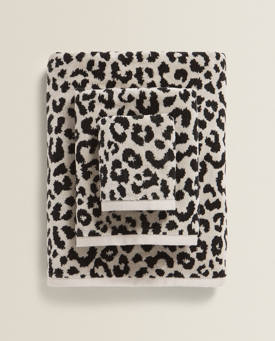 LEOPARD PRINT COTTON TOWEL