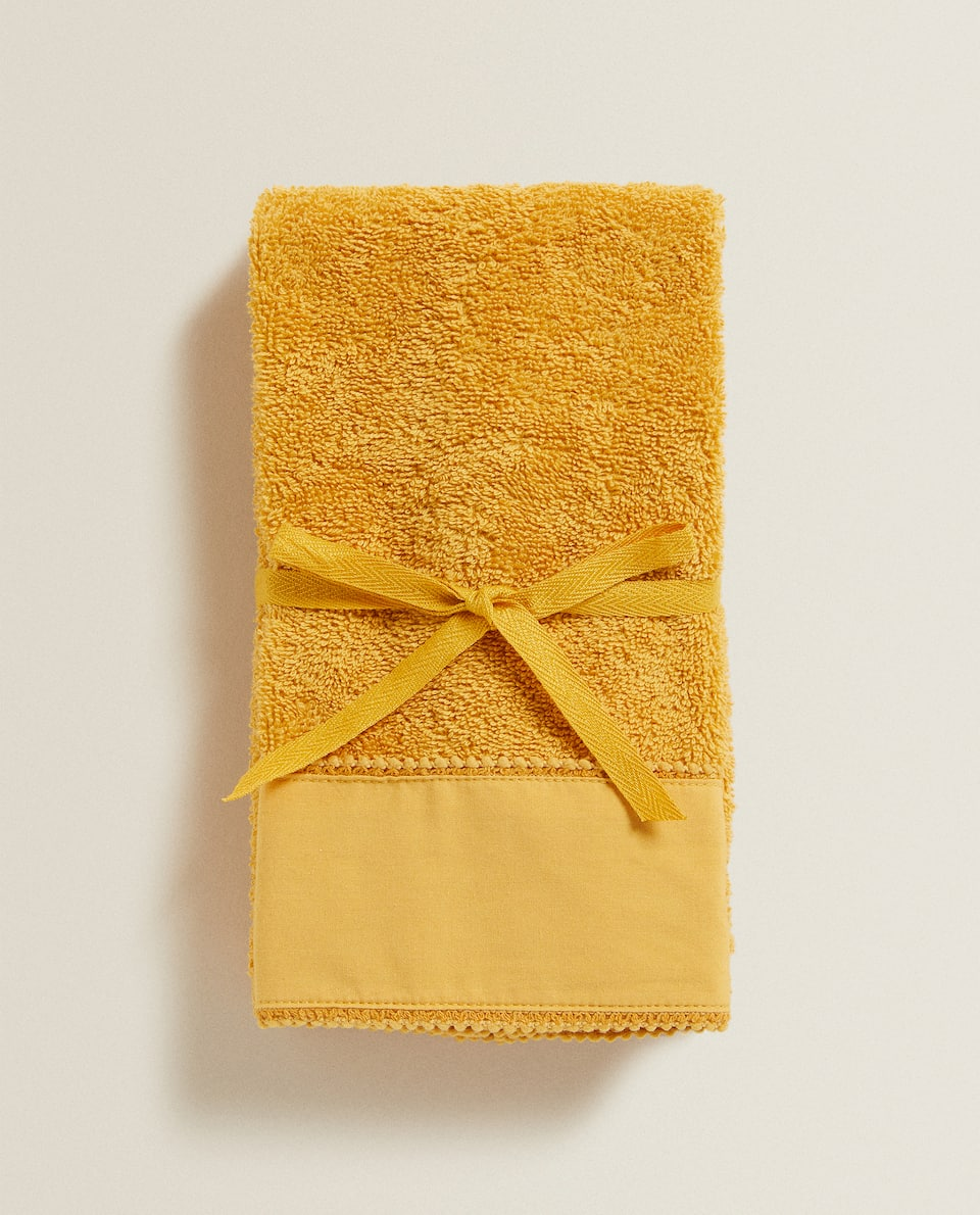 TOWEL WITH A MINI-TASSEL BORDER (PACK OF 2)