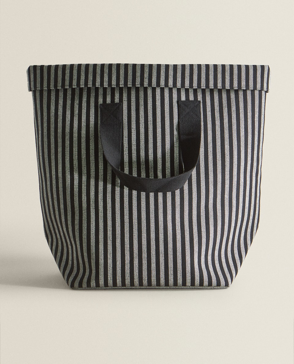 FABRIC BASKET WITH HANDLES