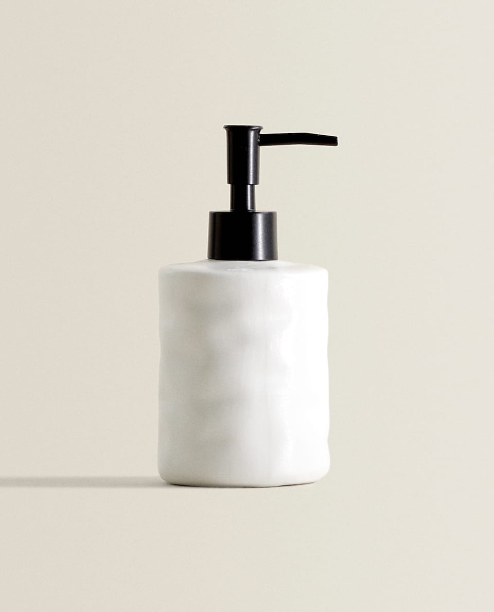CONTRAST CERAMIC SOAP DISPENSER