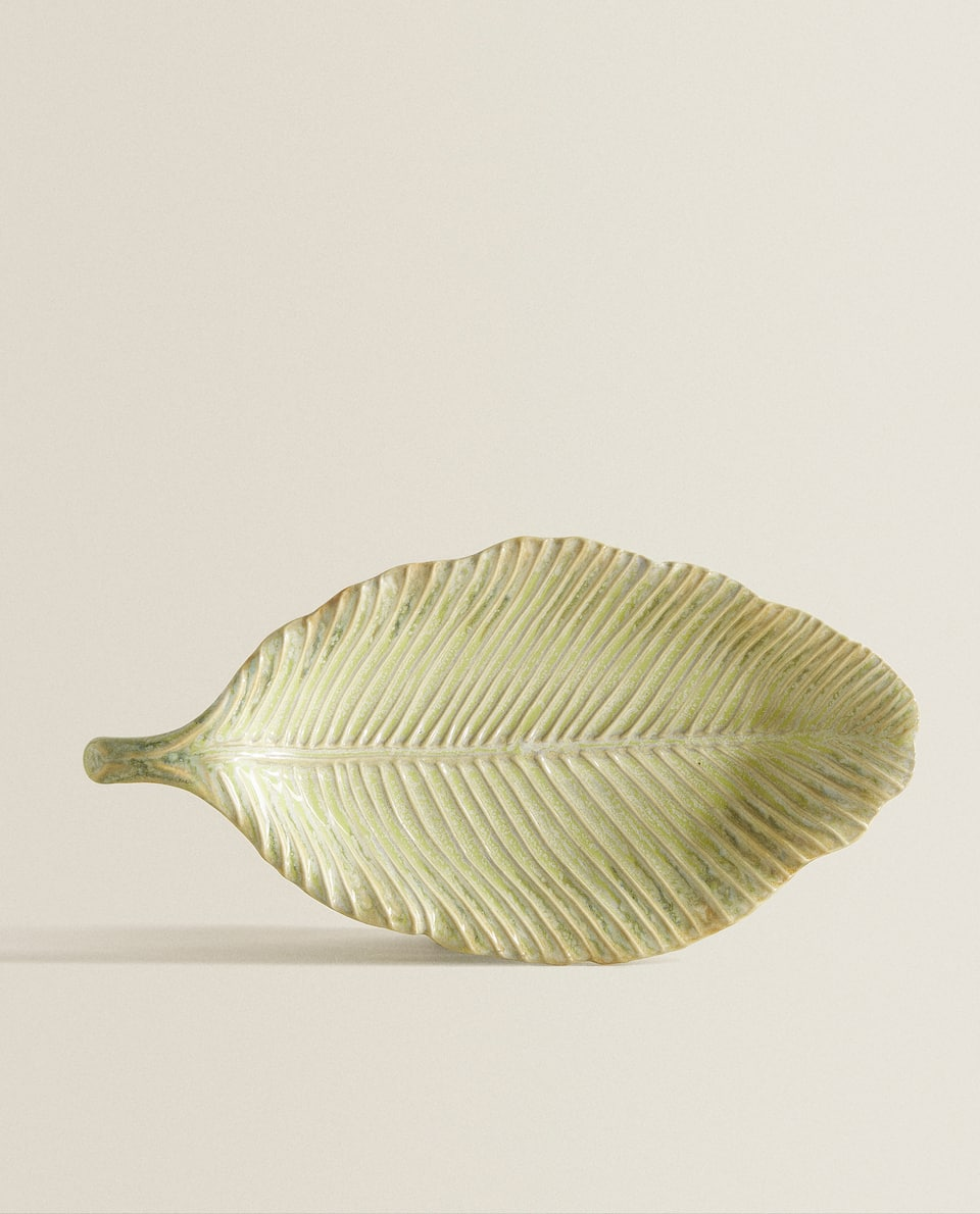 LEAF-SHAPED SERVING DISH