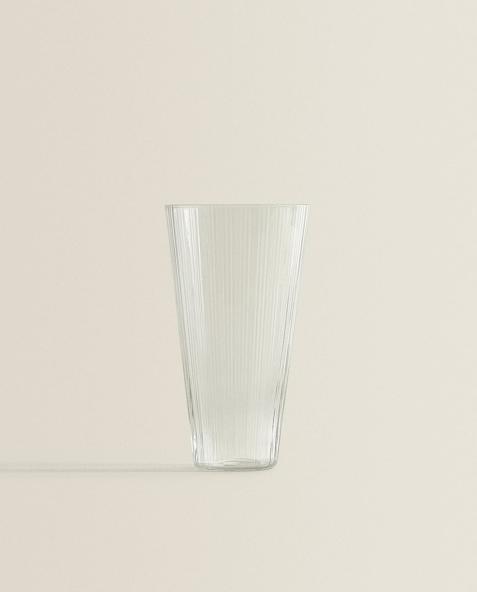CONICAL GLASS SOFT DRINK TUMBLER