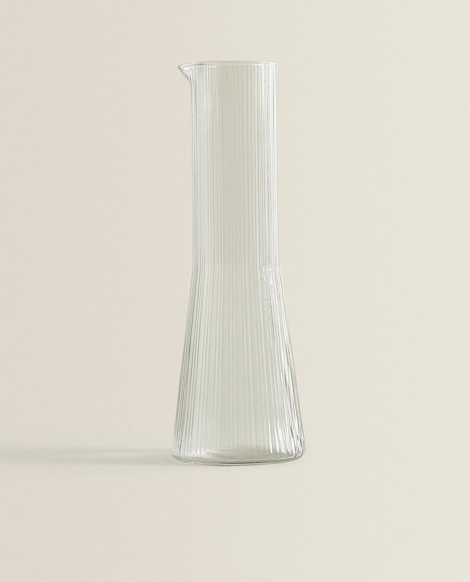 CONICAL GLASS JUG
