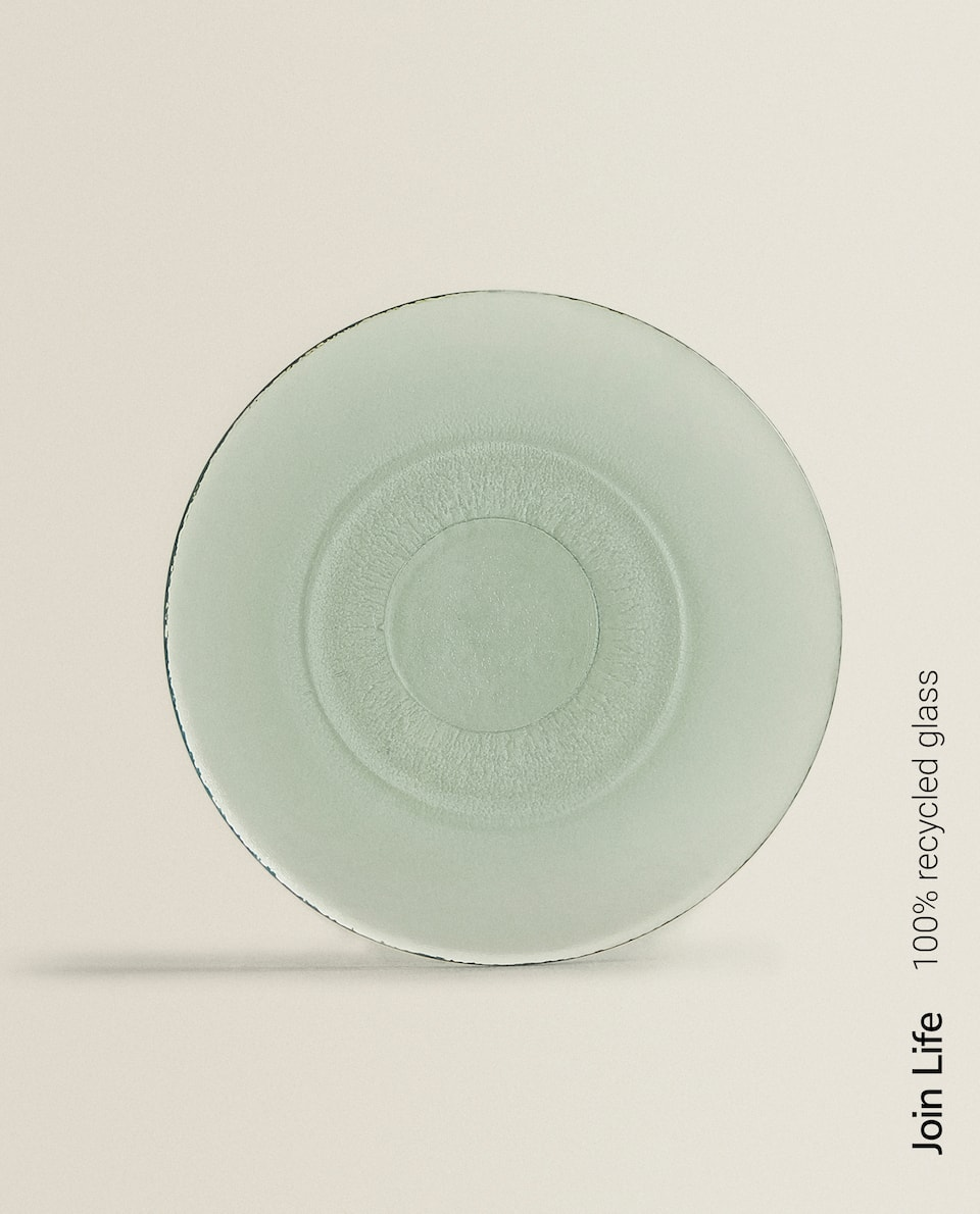 100% RECYCLED GLASS DINNER PLATE