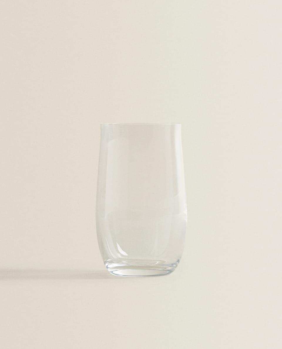 CRYSTALLINE SOFT DRINK TUMBLER