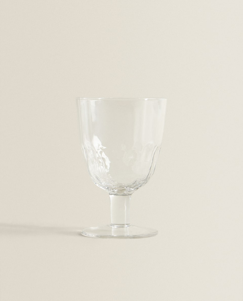 NATURAL HAMMERED WINE GLASS