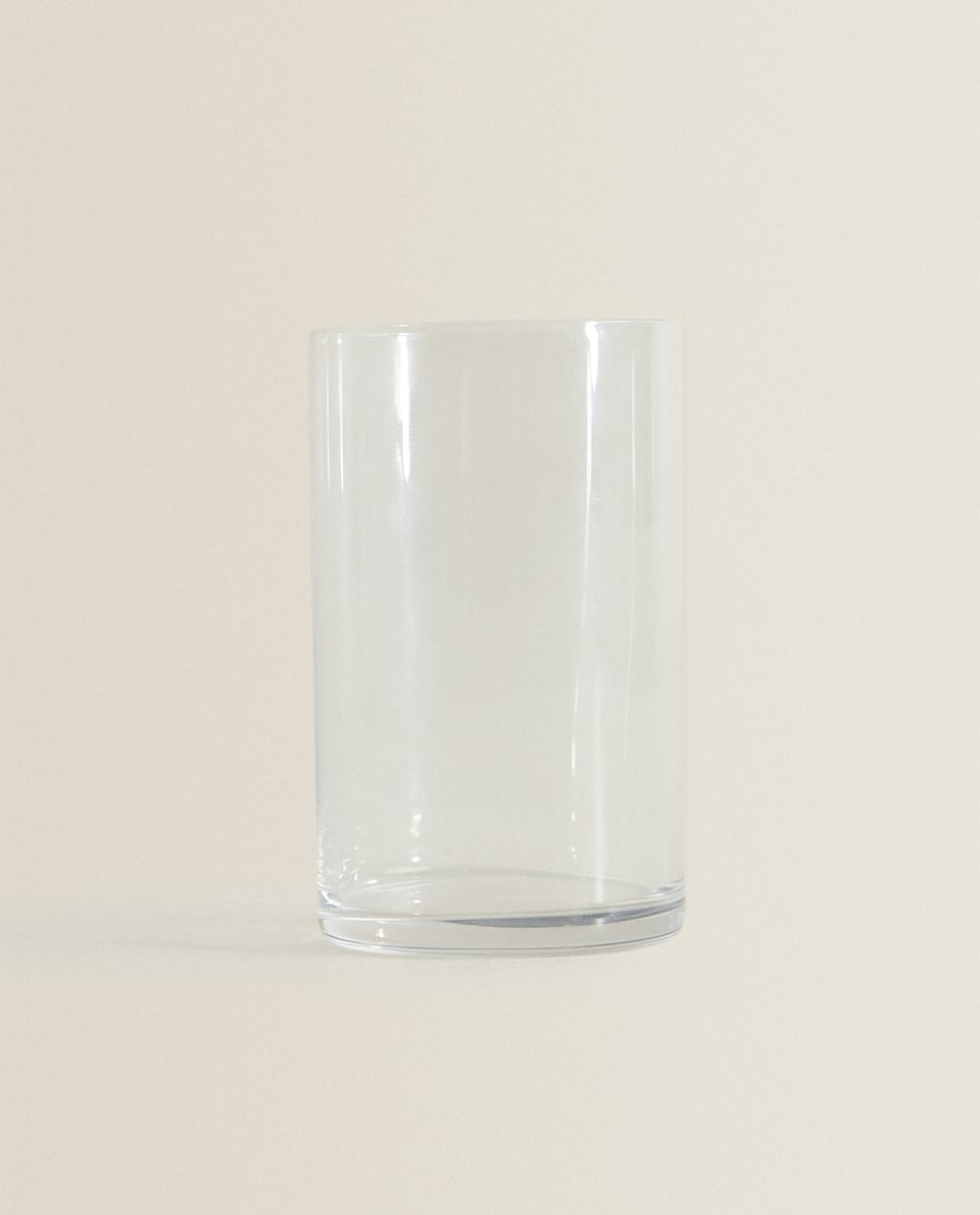 TALL STRAIGHT GLASS TUMBLER