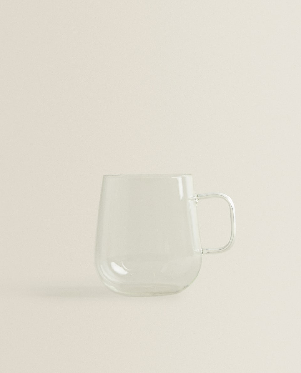 CLEAR BOROSILICATE GLASS MUG