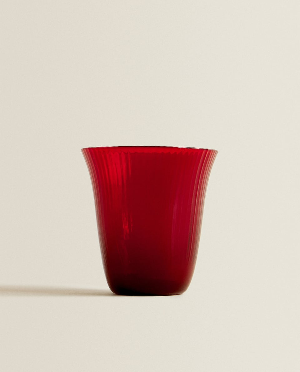 RED STRIPED TUMBLER