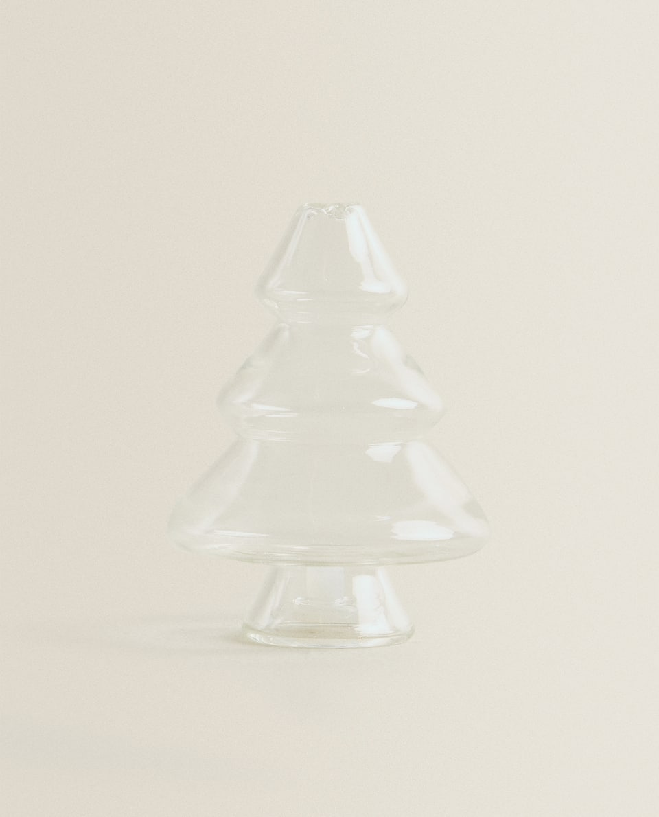 TREE-SHAPED BOROSILICATE GLASS SALT SHAKER