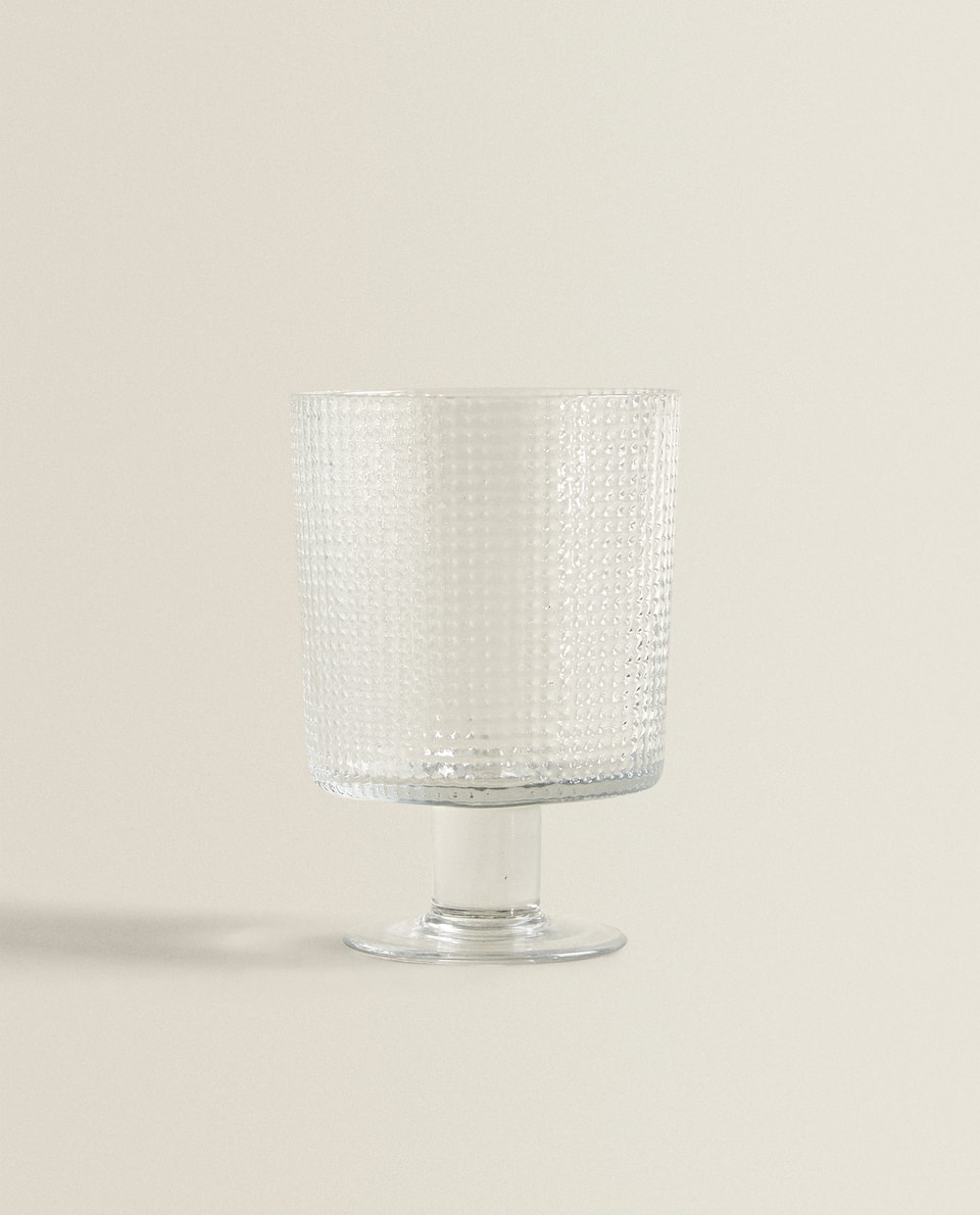 TEXTURED WINE GLASS