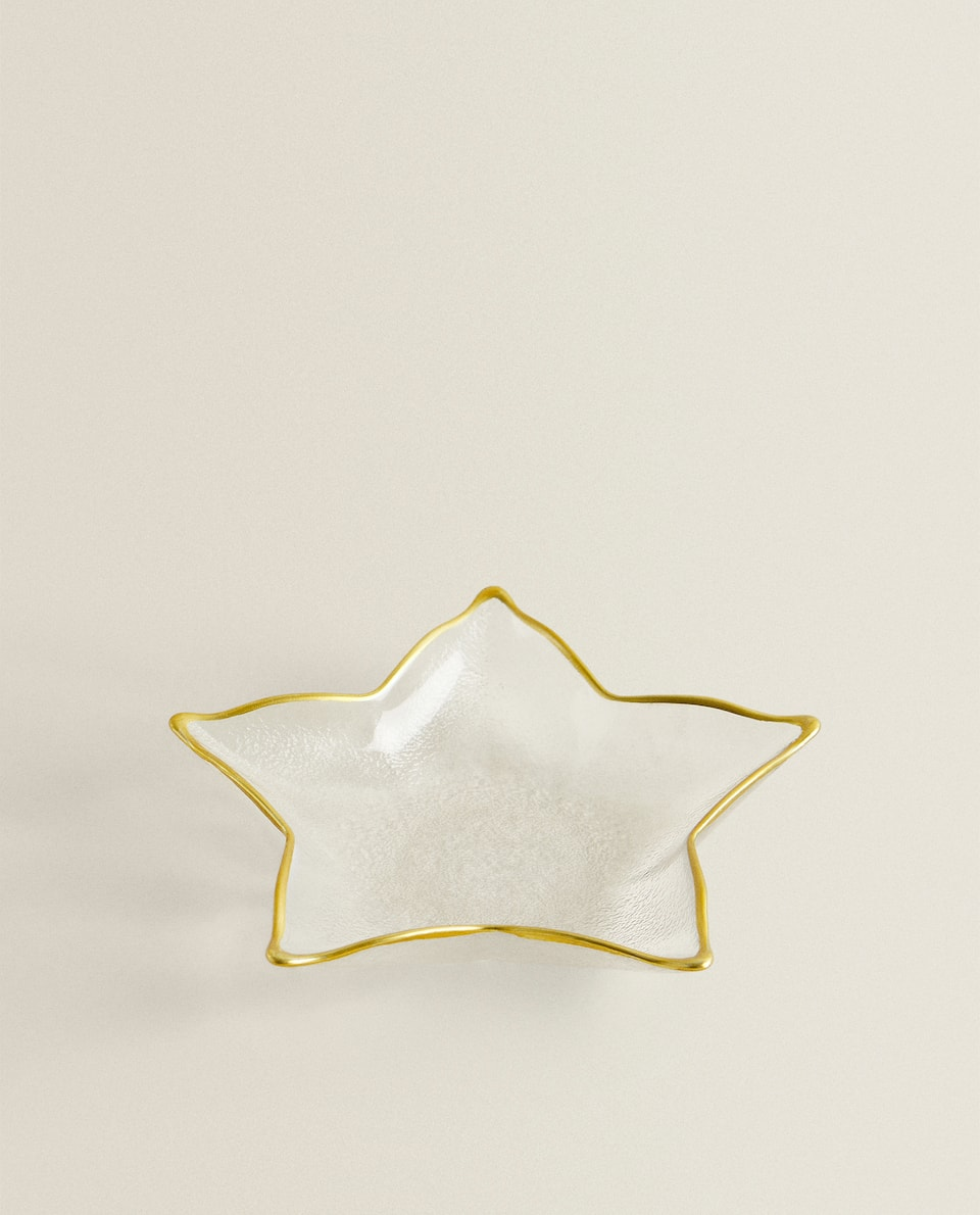 GOLD-RIMMED STAR BOWL