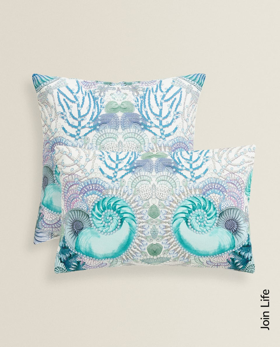 MARINE PRINT CUSHION COVER