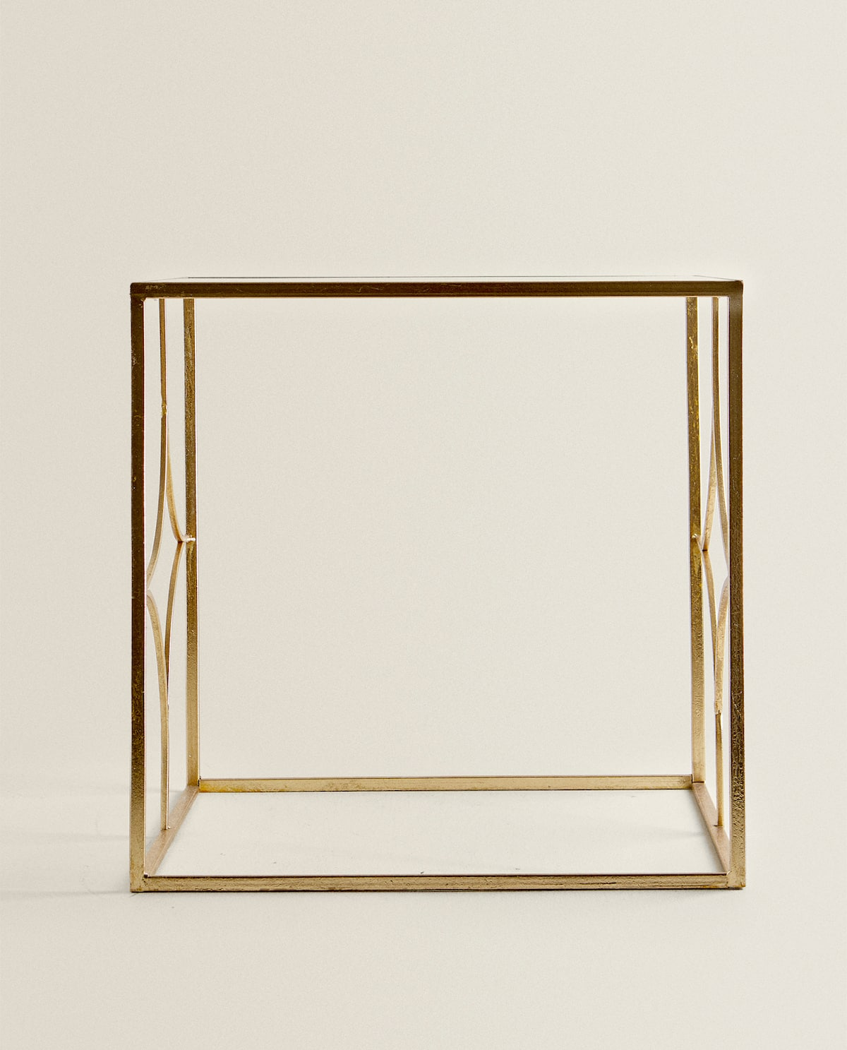 Glass Table With Gold Frame  Living Room   Mid Season Sale by Zara Home