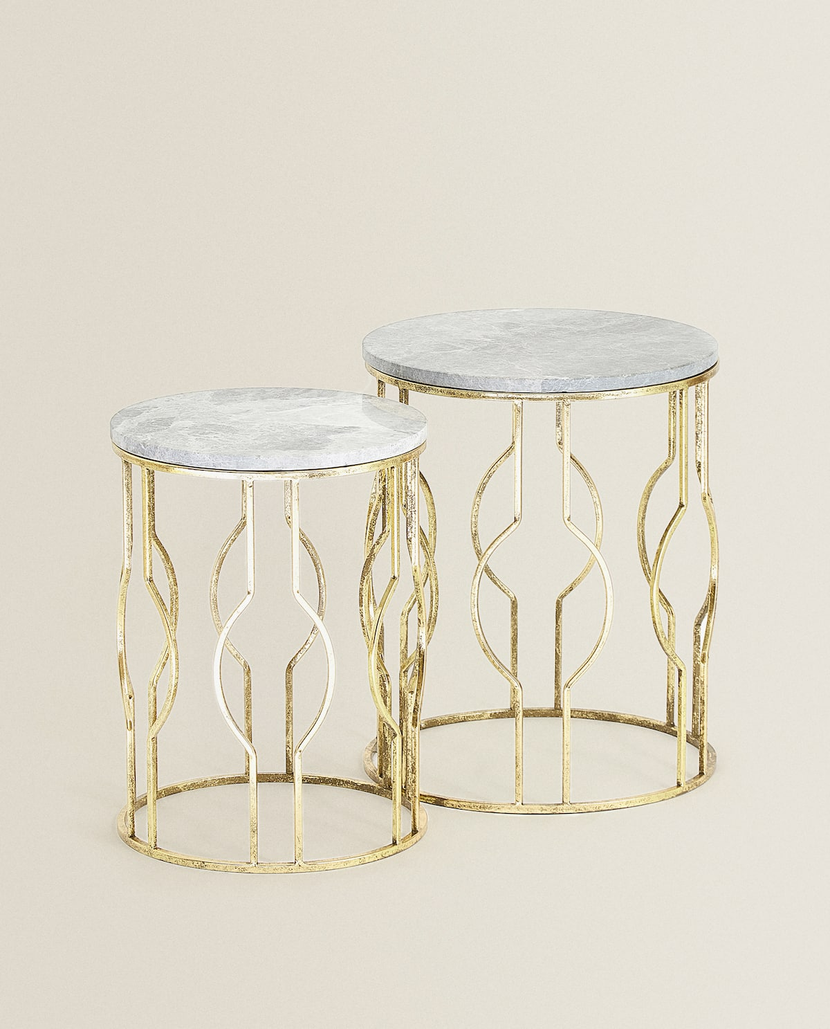 round-marble-tables-(set-of-2)--furniture---bedroom by zara-home