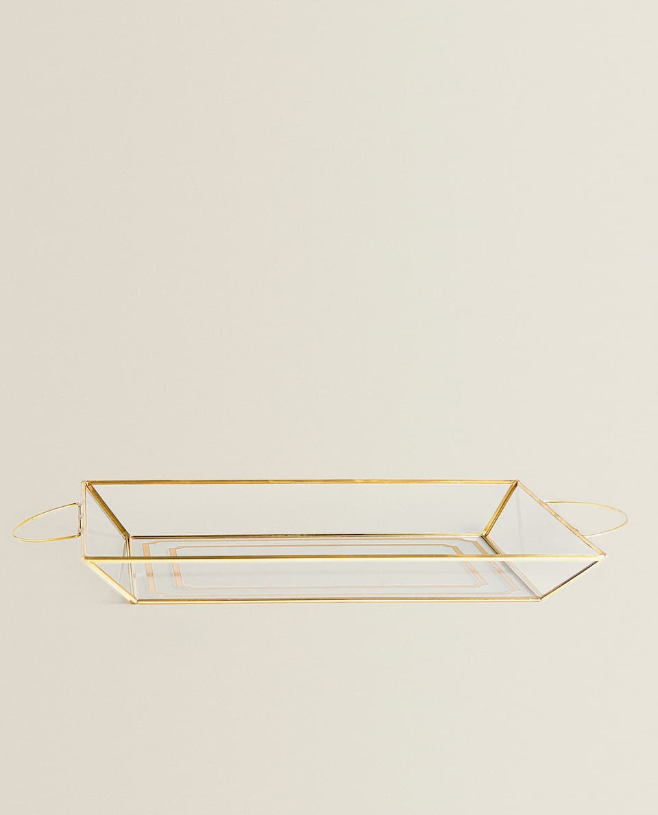 GOLDEN HANDLES TRAY
