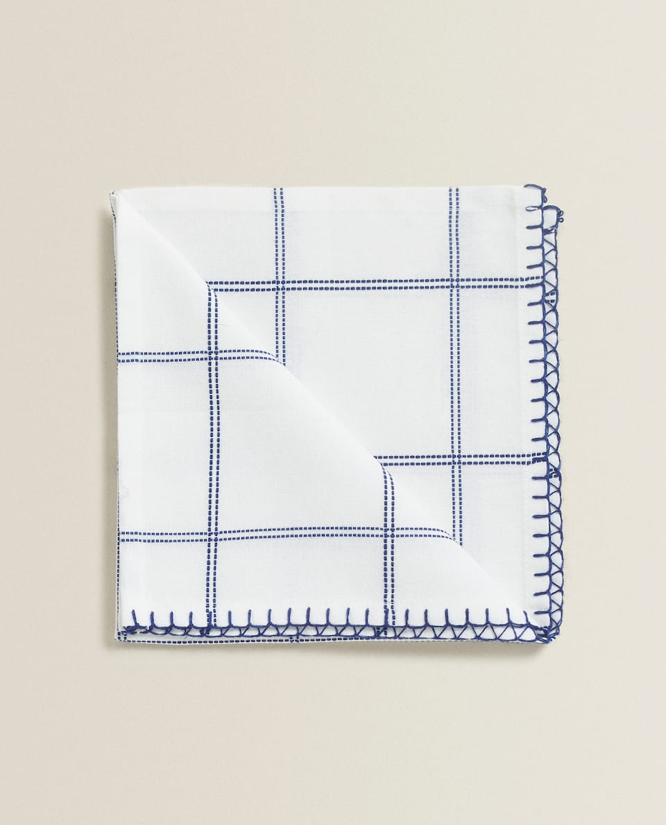 CHECKED COTTON NAPKIN